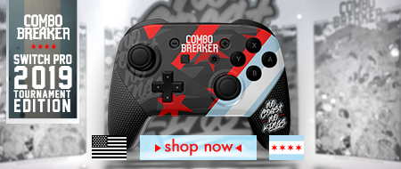 Nintendo Switch Pro - Combo Breaker 2019 - No Coasts No Kings - Custom Controller