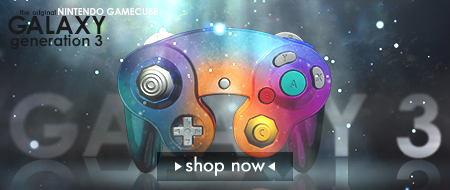 Galaxy Edition Nintendo Gamecube Custom Controllers