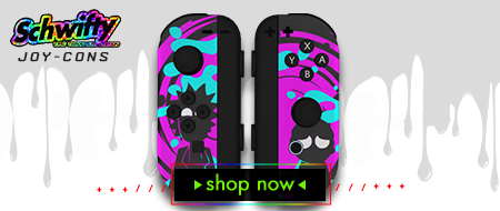 Rick and Morty | Schwifty: Time Travelers Edition Nintendo Switch Joy-Cons Custom Controller