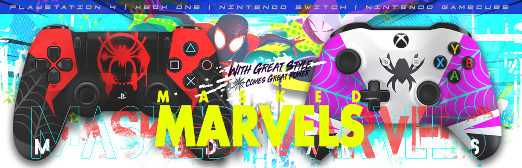 Spider Verse: Masked Marvels Custom Controllers