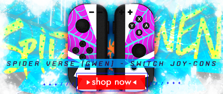 Spider Verse Gwen Stacy Nintendo Switch Joy-Cons Custom Controller